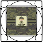 Green Camo Square Trivet (Personalized)