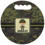 Green Camo Stadium Cushion (Round) (Personalized)