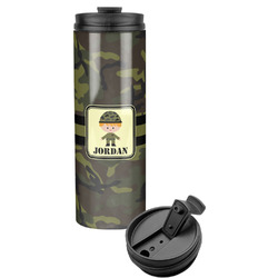 Green Camo Stainless Steel Skinny Tumbler (Personalized)