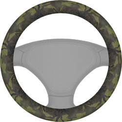 Green Camo Steering Wheel Cover (Personalized)