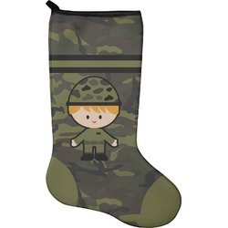Green Camo Holiday Stocking - Neoprene (Personalized)