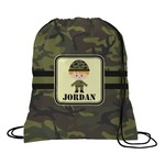 Green Camo Drawstring Backpack (Personalized)