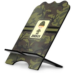 Green Camo Stylized Tablet Stand (Personalized)