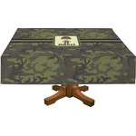 Green Camo Rectangle Tablecloth (Personalized)