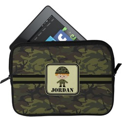 Green Camo Tablet Case / Sleeve (Personalized)