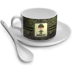 Green Camo Tea Cup - Single (Personalized)
