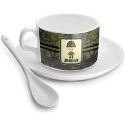Green Camo Tea Cups (Personalized)