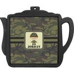 Green Camo Teapot Trivet (Personalized)