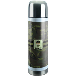 Green Camo Stainless Steel Thermos (Personalized)