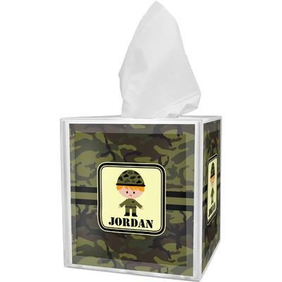 Green Camo Tissue Box Cover (Personalized)