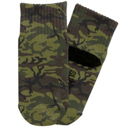 Green Camo Toddler Ankle Socks (Personalized)