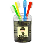 Green Camo Toothbrush Holder (Personalized)