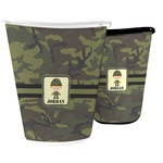 Green Camo Waste Basket (Personalized)