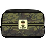 Green Camo Toiletry Bag / Dopp Kit (Personalized)