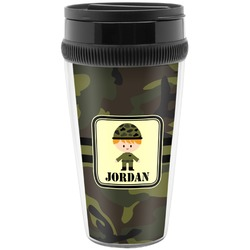 Green Camo Travel Mugs (Personalized)
