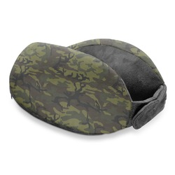 Green Camo Travel Neck Pillow