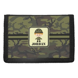 Green Camo Trifold Wallet (Personalized)