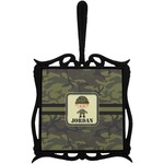 Green Camo Trivet with Handle (Personalized)