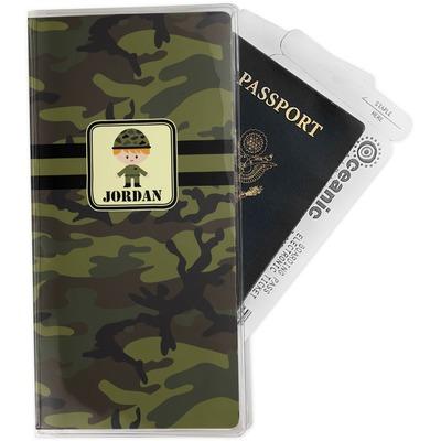 Green Camo Travel Document Holder