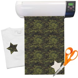 "Green Camo Heat Transfer Vinyl Sheet (12""x18"")"