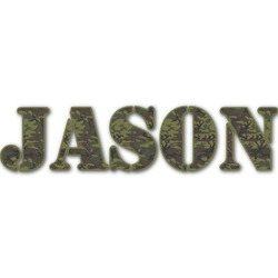 Green Camo Name/Text Decal - Custom Sized (Personalized)