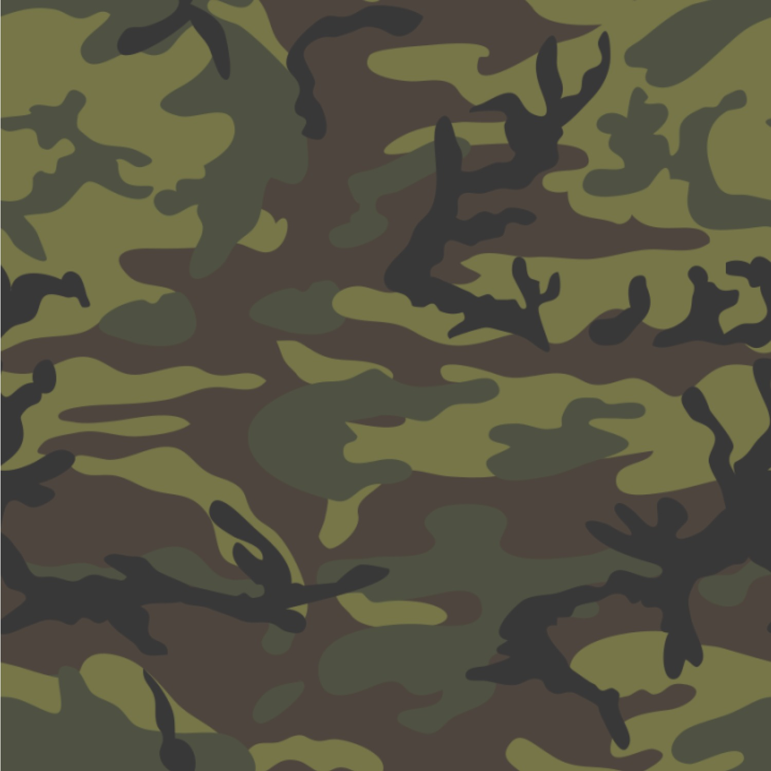 Camouflage Wallpapers: Green Camo Wallpaper & Surface Covering (Water Activated
