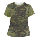 Green Camo Women's Crew T-Shirt (Personalized)