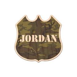 Green Camo Genuine Wood Sticker (Personalized)