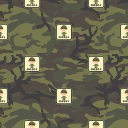 Green Camo Wrapping Paper (Personalized)