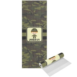 Green Camo Yoga Mat - Printed Front (Personalized)