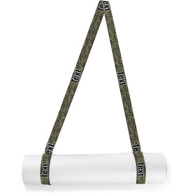 Green Camo Yoga Mat Strap (Personalized)