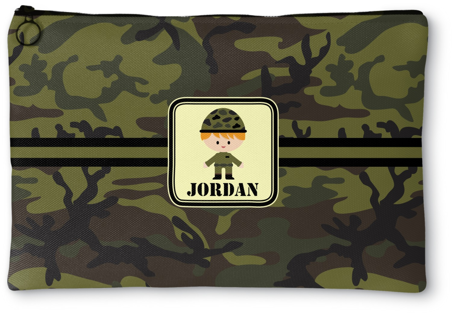 91980a65097f Green Camo Zipper Pouch (Personalized) - YouCustomizeIt