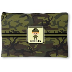 Green Camo Zipper Pouch (Personalized)