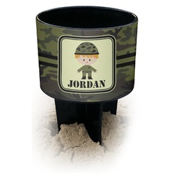 Green Camo Black Beach Spiker Drink Holder (Personalized)