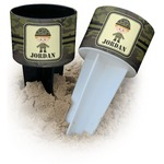 Green Camo Beach Spiker Drink Holder (Personalized)