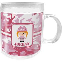 Pink Camo Acrylic Kids Mug (Personalized)