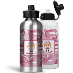 Pink Camo Water Bottles- Aluminum (Personalized)