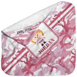 Pink Camo Baby Hooded Towel (Personalized)