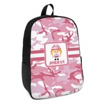Pink Camo Kids Backpack (Personalized)