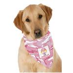 Pink Camo Dog Bandana Scarf w/ Name or Text