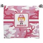 Pink Camo Bath Towel (Personalized)