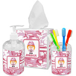Pink Camo Acrylic Bathroom Accessories Set w/ Name or Text