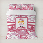 Pink Camo Duvet Covers (Personalized)