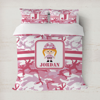 Pink Camo Duvet Cover (Personalized)