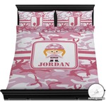 Pink Camo Duvet Cover Set (Personalized)