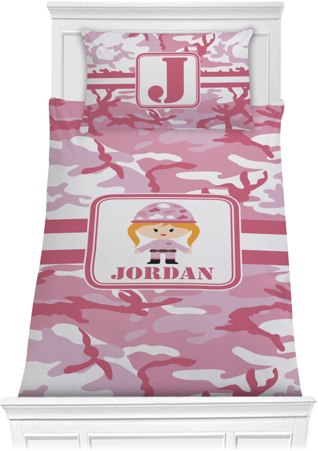 Pink Camo Comforter Set Twin Personalized Youcustomizeit