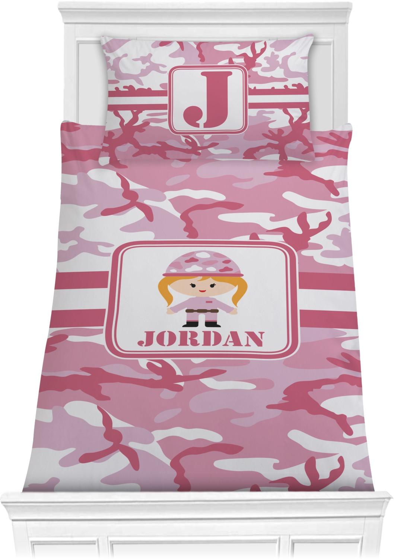 Pink Twin Tails Cartoon Pants Candy Stripper X Amoyamo: Pink Camo Comforter Set