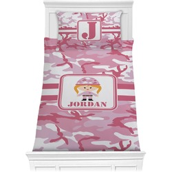 Pink Camo Comforter Set - Twin (Personalized)