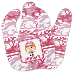 Pink Camo Baby Bib w/ Name or Text