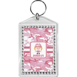 Pink Camo Bling Keychain (Personalized)